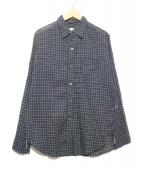 POST OALLS(ポストオーバーオールズ)の古着「ガーゼシャツ」 ネイビー