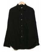 POST OALLS(ポストオーバーオールズ)の古着「リネンラミーコットンシャツ」 ブラック