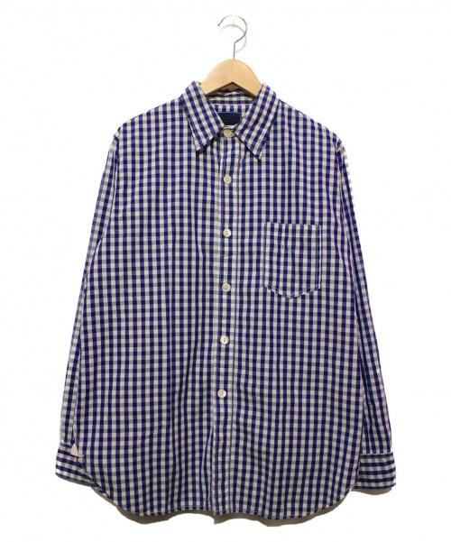 CORONA(コロナ)CORONA (コロナ) ギンガムチェックシャツ ネイビー サイズ:Lの古着・服飾アイテム