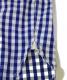 中古・古着 CORONA (コロナ) ギンガムチェックシャツ ネイビー サイズ:L:4800円