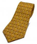 HERMES(エルメス)の古着「ブドウ柄ネクタイ」|イエロー