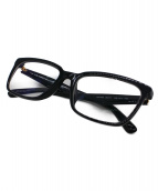 PRADA(プラダ)の古着「サイドロゴセルフフレーム眼鏡」|ネイビー