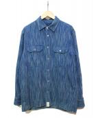 Ron Herman×DESCENDANT(ロンハーマン×ディセンダント)の古着「インディゴシャツ」|ネイビー