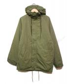 TonyTaizsun(トニーサイズサン)の古着「ミリタリーフードモッズコートジャケット」|オリーブ