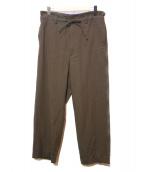 yoke(ヨーク)の古着「ワイドパジャマパンツ」|ブラウン