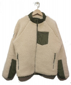 Lafayette(ラファイエット)の古着「ボアフリースジャケット」 ホワイト×カーキ