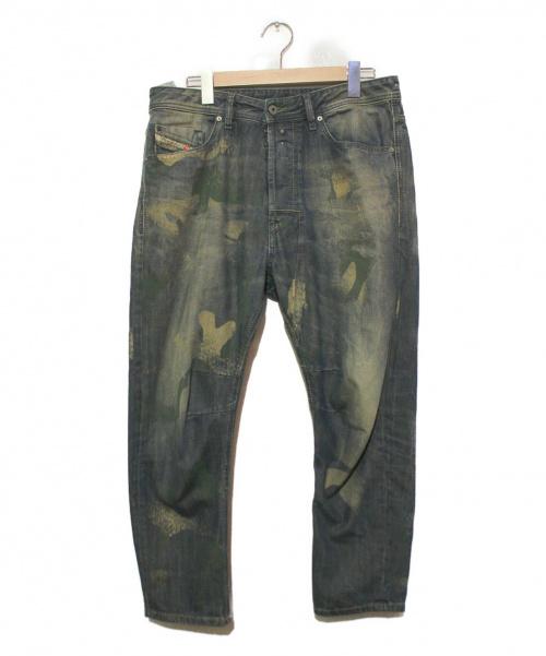 DIESEL(ディーゼル)DIESEL (ディーゼル) ペイント加工デニムパンツ インディゴ サイズ:W31 イタリア製の古着・服飾アイテム