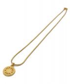 HERMES(エルメス)の古着「サークルプレートネックレス」|ゴールド