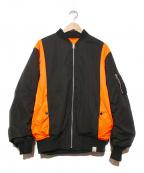MAGIC STICK(マジックスティック)の古着「リバーシブルMA-1ジャケット」 ブラック×オレンジ