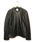 UNITED TOKYO(ユナイテッドトウキョウ)の古着「ノーカラーレザージャケット」|ブラック