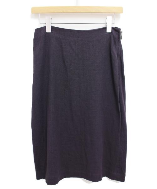 HERMES(エルメス)HERMES (エルメス) リネンスカート パープル サイズ:38 マルジェラ期の古着・服飾アイテム