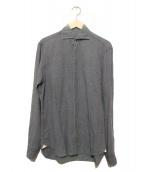 BARBA(バルバ)の古着「ウォッシュドリネンコットンシャツ」|グレー