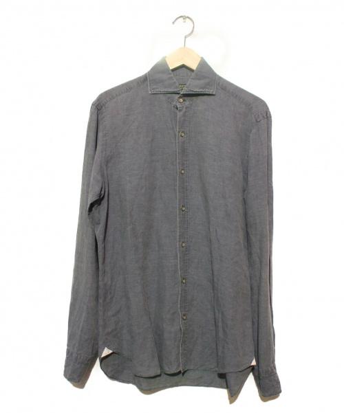 BARBA(バルバ)BARBA (バルバ) ウォッシュドリネンコットンシャツ グレー サイズ:40 イタリア製 DANDYLIFEの古着・服飾アイテム