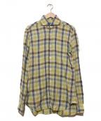 BARBA(バルバ)の古着「リネンシャツ」|イエロー
