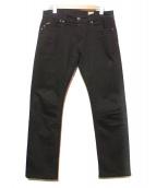 YANUK(ヤヌーク)の古着「ブラックスリムテーパードデニム」|ブラック