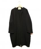 Sono(ソーノ)の古着「ダンボールロングカラーコート」 ブラック