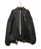 FRED PERRY×77circa(フレッドペリー × ナナナナサーカ)の古着「リメイクジャケット」|ブラック