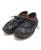 Trippen(トリッペン)の古着「レースアップレザーシューズ」|ブラック