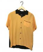 HUF(ハフ)の古着「オープンカラーシャツ」 ブラック×オレンジ
