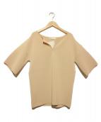 Noble(ノーブル)の古着「サーブルストレッチミラノリブロングPO」|ベージュ