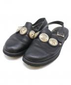 foot the coacher×END CUSTOM JEWELLERS(フットザコーチャー×エンド カスタム ジュエラー)の古着「コンチョ付きサンダル」 ブラック