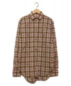 BURBERRY(バーバリーズ)の古着「ホース刺繍シャツ」|ピンク