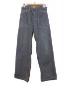 POST OALLS(ポストオーバーオールズ)の古着「ヒッコリーパンツ」|インディゴ