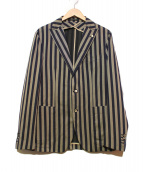 TAGLIATORE(タリアトーレ)の古着「テーラードジャケット」|ネイビー×グレー