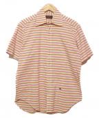 ETRO(エトロ)の古着「刺繍ポイント半袖シャツ」|オレンジ