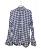 BARBA(バルバ)の古着「リネンシャツ」|スカイブルー