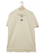 GIVENCHY(ジバンシィ)の古着「ブローチエンブリッシュメントポロシャツ」 ホワイト