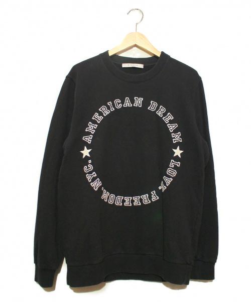 GIVENCHY(ジバンシィ)GIVENCHY (ジバンシィ) AMERICAN DREAM刺繍スウェット ブラック サイズ:S 16F 7303 653の古着・服飾アイテム