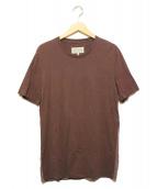 Martin Margiela 10(マルタンマルジェラ10)の古着「バックヘム切替半袖Tシャツ」|ブラウン