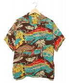 Sun Surf(サンサーフ)の古着「アロハシャツ」 ブラウン