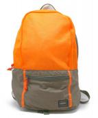 HEAD PORTER(ヘッドポータ)の古着「メッシュリュック」|オレンジ