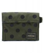HEAD PORTER(ヘッドポータ)の古着「2つ折り財布」|オリーブ