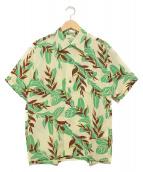 Sun Surf(サンサーフ)の古着「アロハシャツ」 ホワイト×グリーン