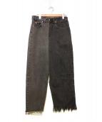 77circa(ナナナナサーカ)の古着「リメイクデニムパンツ」|グレー