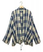 45R(フォーティファイブアール)の古着「リネン混ショート丈ガウン」 インディゴ