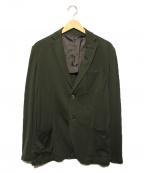 Cruciani(クルチアーニ)の古着「超軽量コットン ジャージー シングル ジャケット」|グリーン