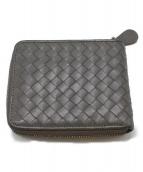 BOTTEGA VENETA(ボッテガヴェネタ)の古着「ラウンドファスナー2つ折り財布」|グレー