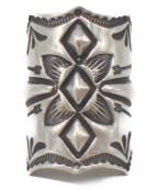SUNSHINE REEVES(サンシャインリーブス)の古着「スタンプワークボウガードリング」 シルバー