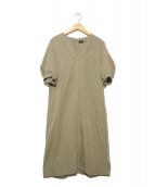 SACRA(サクラ)の古着「リネン混ワンピース」 オリーブ