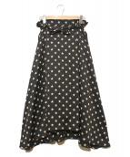 DOUBLE STANDARD CLOTHING(ダブルスタンダードクロージング)の古着「スター総柄スカート」|ブラック