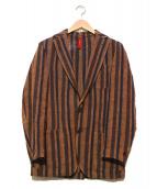 ernesto(エルネスト)の古着「リネンテーラードジャケット」|ブラウン×ネイビー