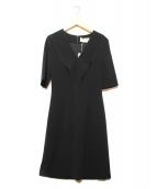 HUGO BOSS(ヒューゴボス)の古着「Vネックドレスワンピース」|ブラック