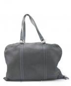 TRION(トリオン)の古着「レザーボストントートバッグ」|ネイビー