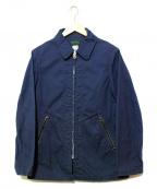 CORONA(コロナ)の古着「ポケットレザースイングトップ」|ネイビー
