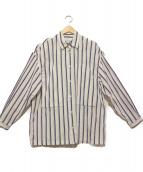 E.TAUTZ(イートーツ)の古着「ビッグシルエットポケットシャツ」 ホワイト