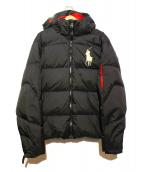 POLO RALPH LAUREN(ポロラルフローレン)の古着「ビックポニーダウンジャケット」|ブラック